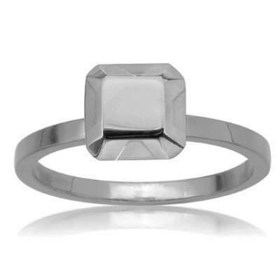 white gold non diamond engagement ring