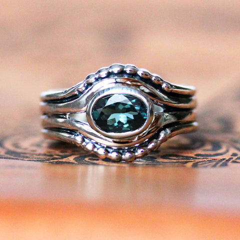 Earth Ring - Indicolite Tourmaline