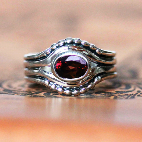 Earth Ring - Garnet