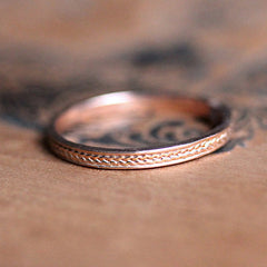 Braided rose gold ring-handmade-ethnic3