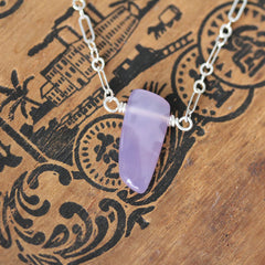 "Lavender Chalcedony Necklace #1, 18"" length"