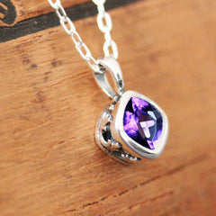 Amethyst Sterling Silver Necklace, Emily Brontë