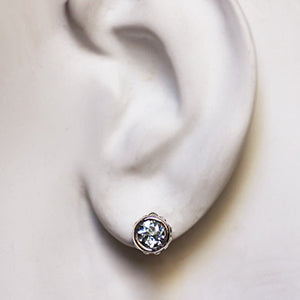Handmade-ethical-Sterling-Silver-Aquamarine-Stud Earring-02