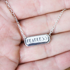 Fearless Necklace in Sterling Silver