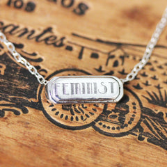 Feminist Necklace in Sterling Silver
