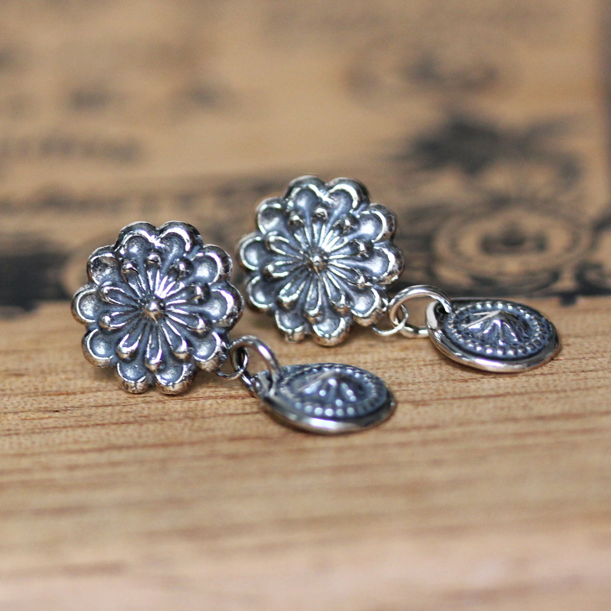 Flower & Starburst Dangle Earrings