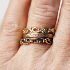 14k Gold Anniversary Stacking Ring Set