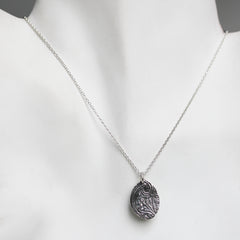 Silver Henna Engraved Necklace
