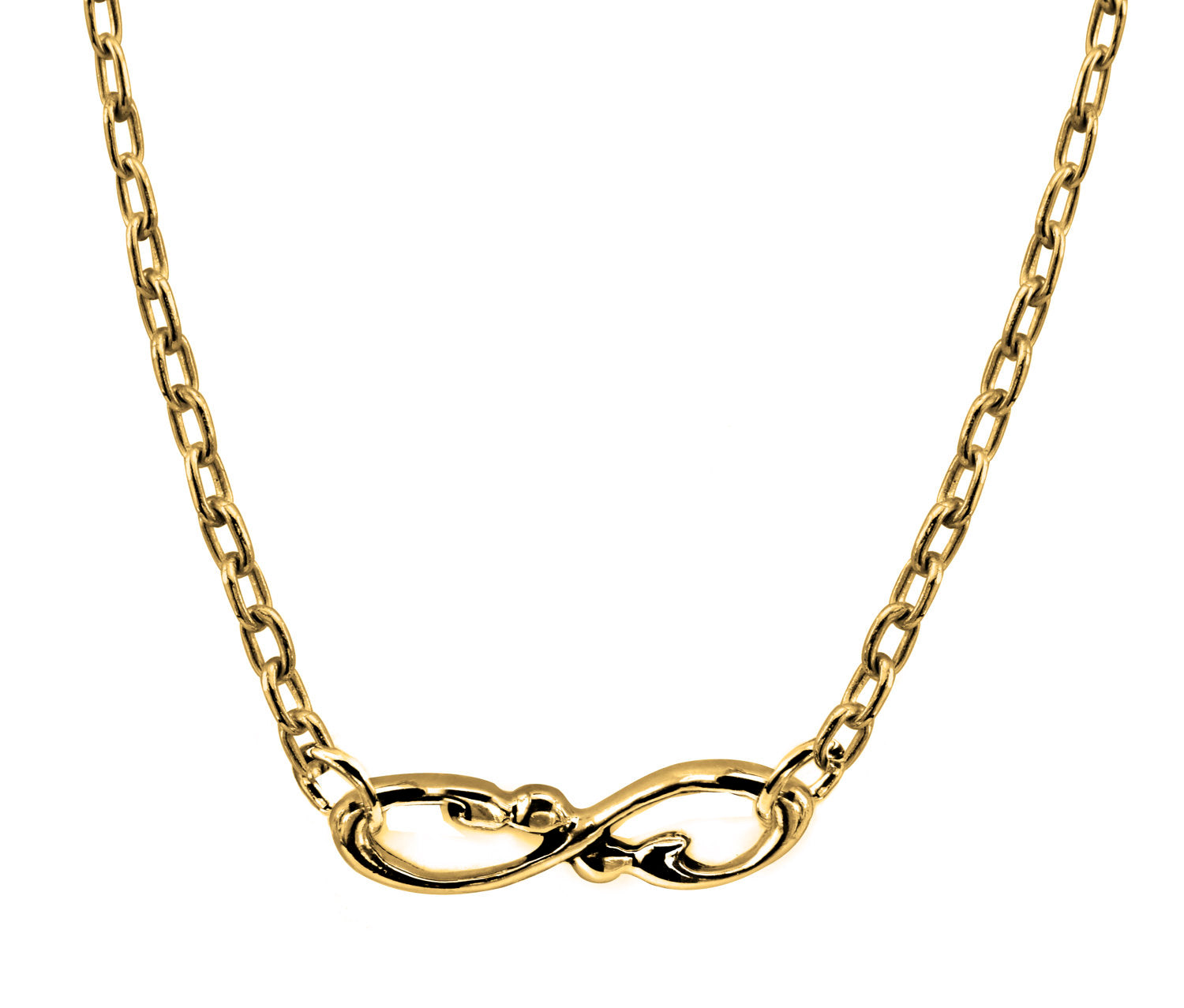 14k Yellow Gold infinity necklace