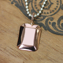 Rose Gold Geometric Necklace