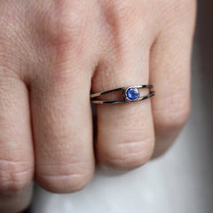 Sapphire Wishes 14K White Gold Ring, Size 7.5