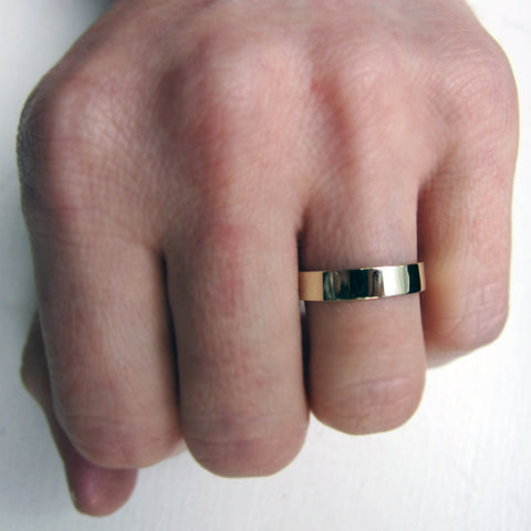 Recycled Green Gold Wedding Band