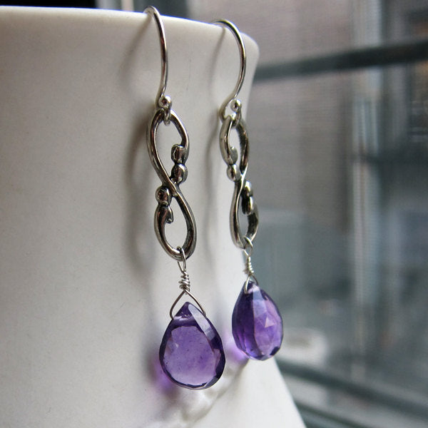Briolette Amethyst Earrings
