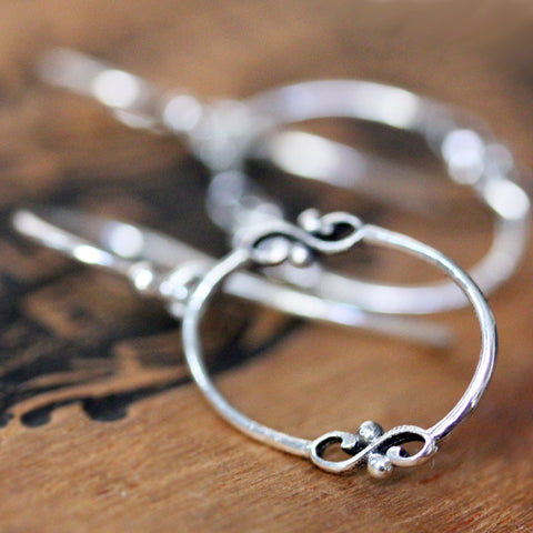 Wrought Oval Hoop Earrings--Limited Edition
