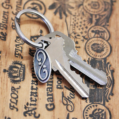 Wrought Infinity Silver Keychain