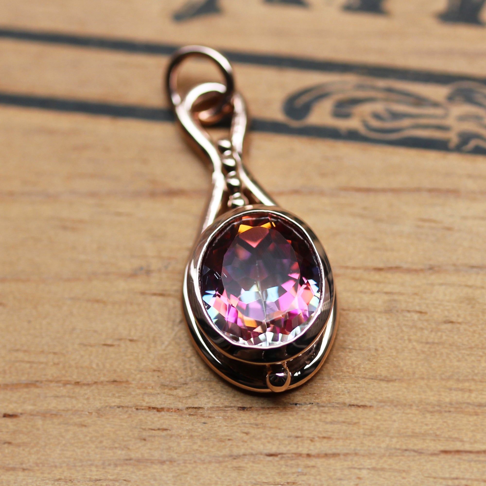 Mystic Topaz Pendulum Necklace