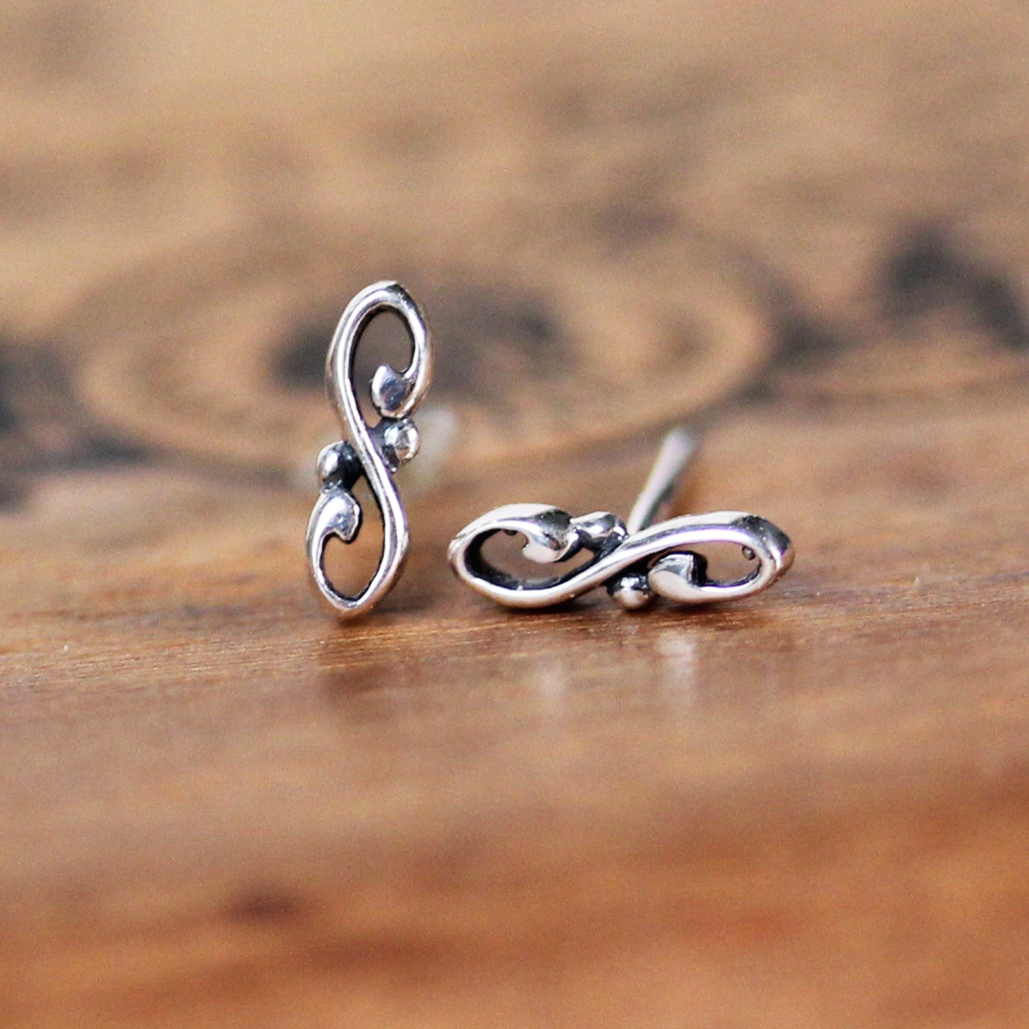Dainty Infinity Stud Earrings - Wrought