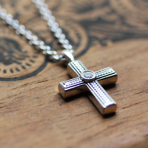 Tiny Silver Cross Necklace