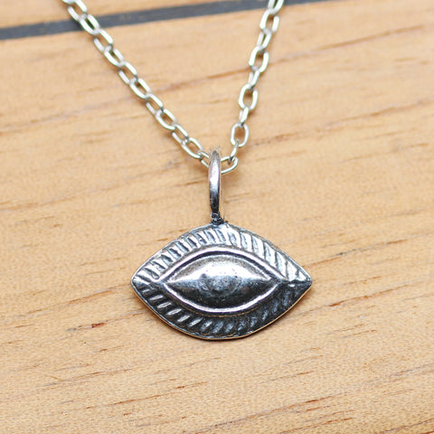 Protective Eye Necklace, sterling silver