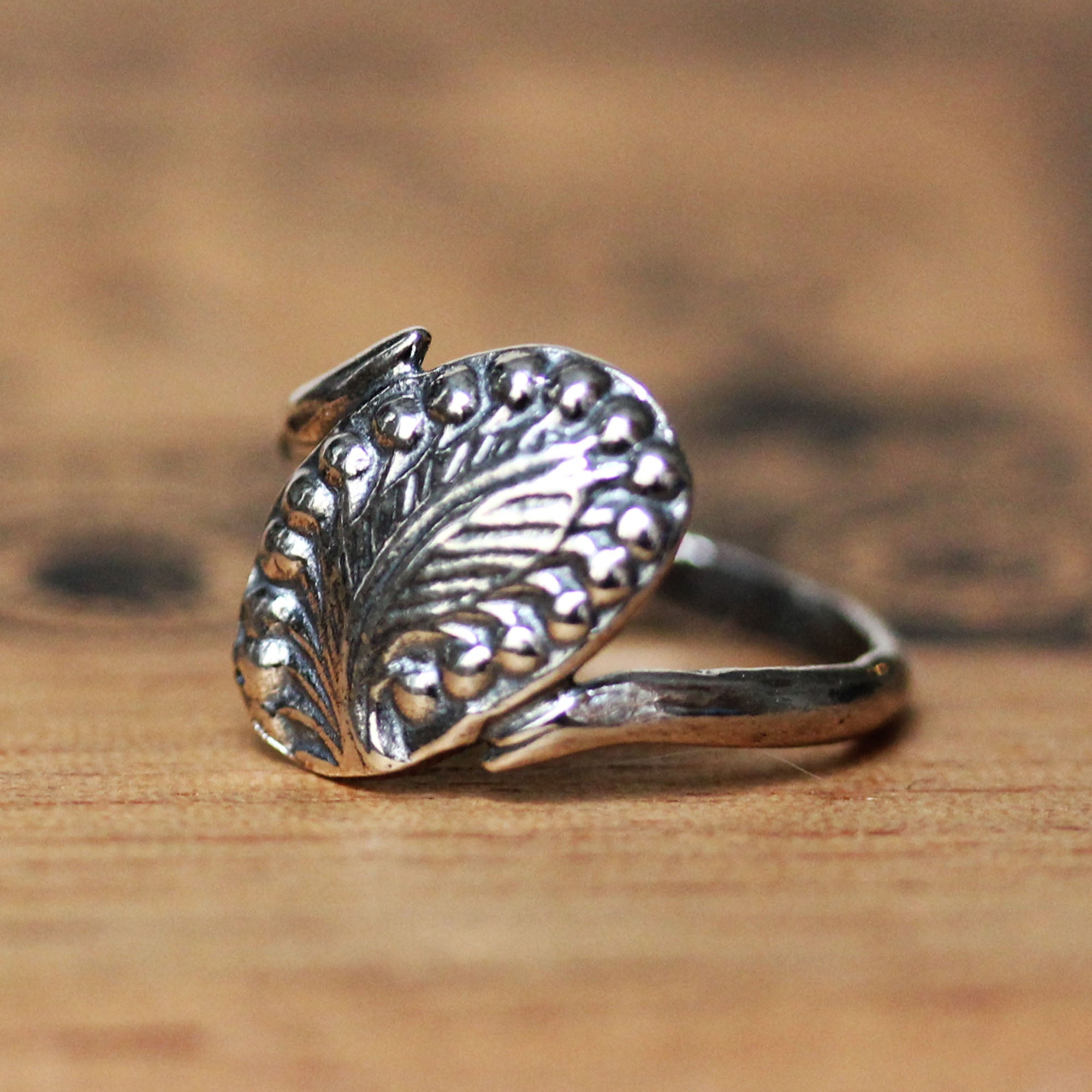 Sterling Silver Feather Ring - Ready to Ship