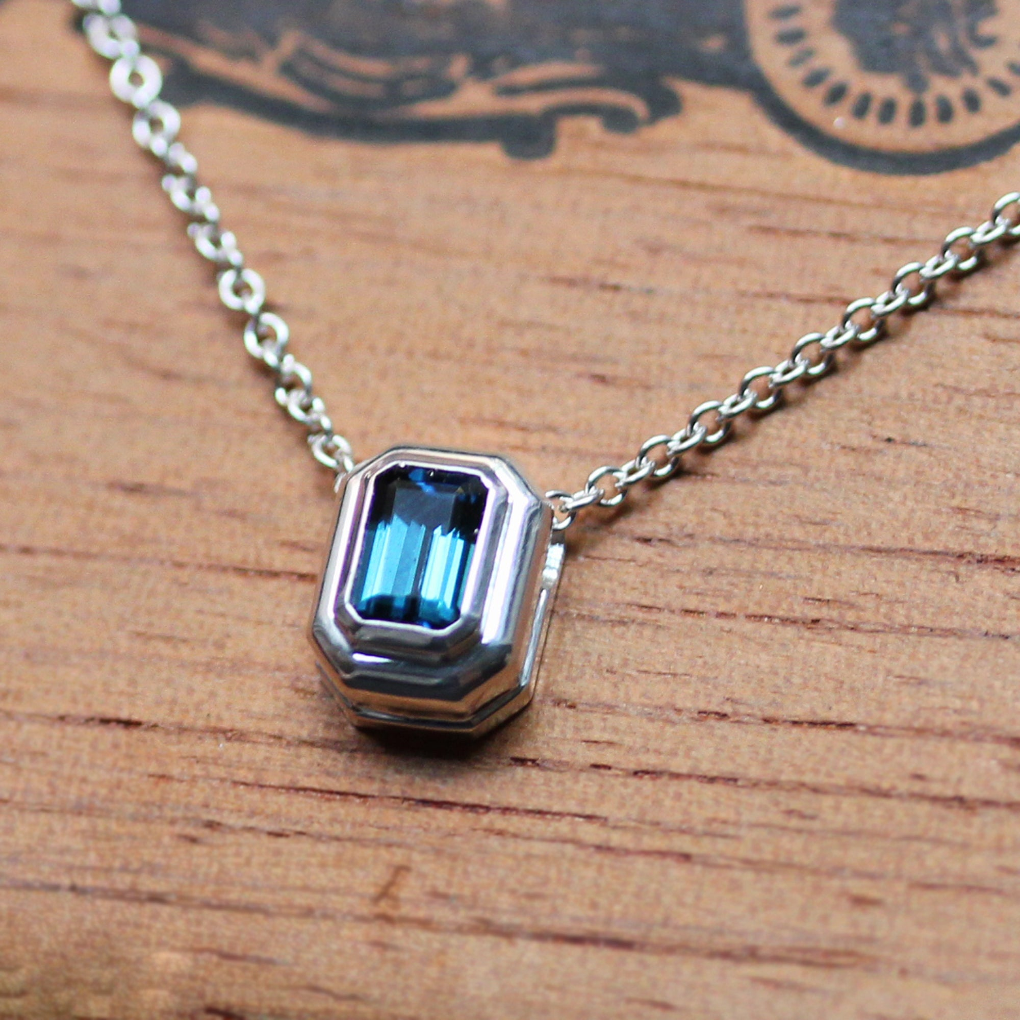 Indicolite Tourmaline Silver Necklace