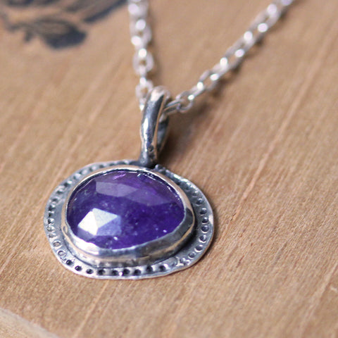 Freeform Tanzanite Silver Necklace