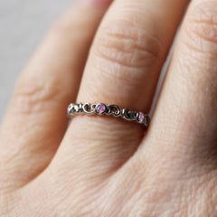 Pink Tourmaline Eternity Band White Gold, Water Dream