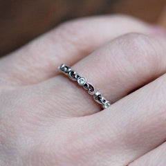 Moissanite Eternity Band, Water Swirl