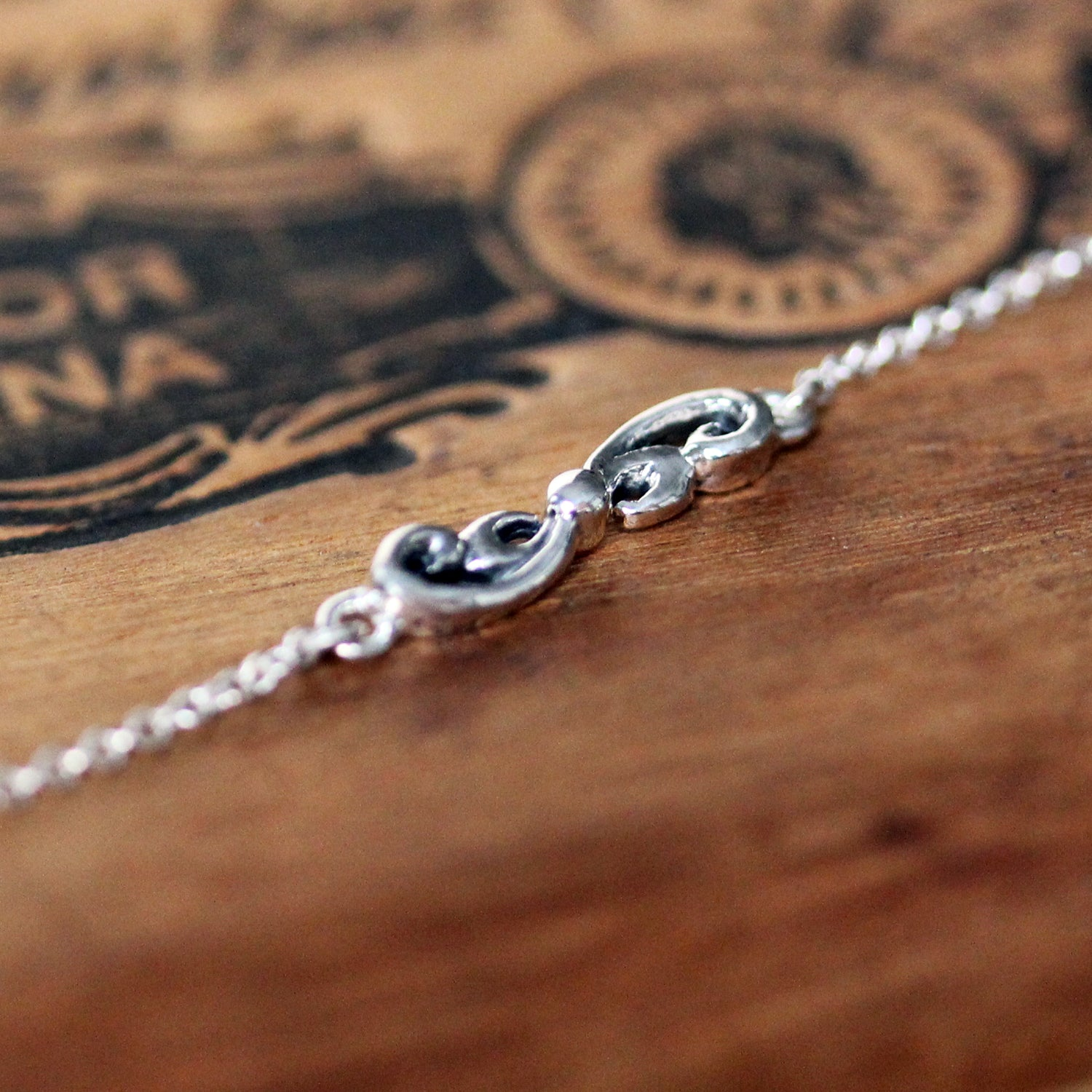 Water Dream Dainty Swirl Bracelet - sterling silver