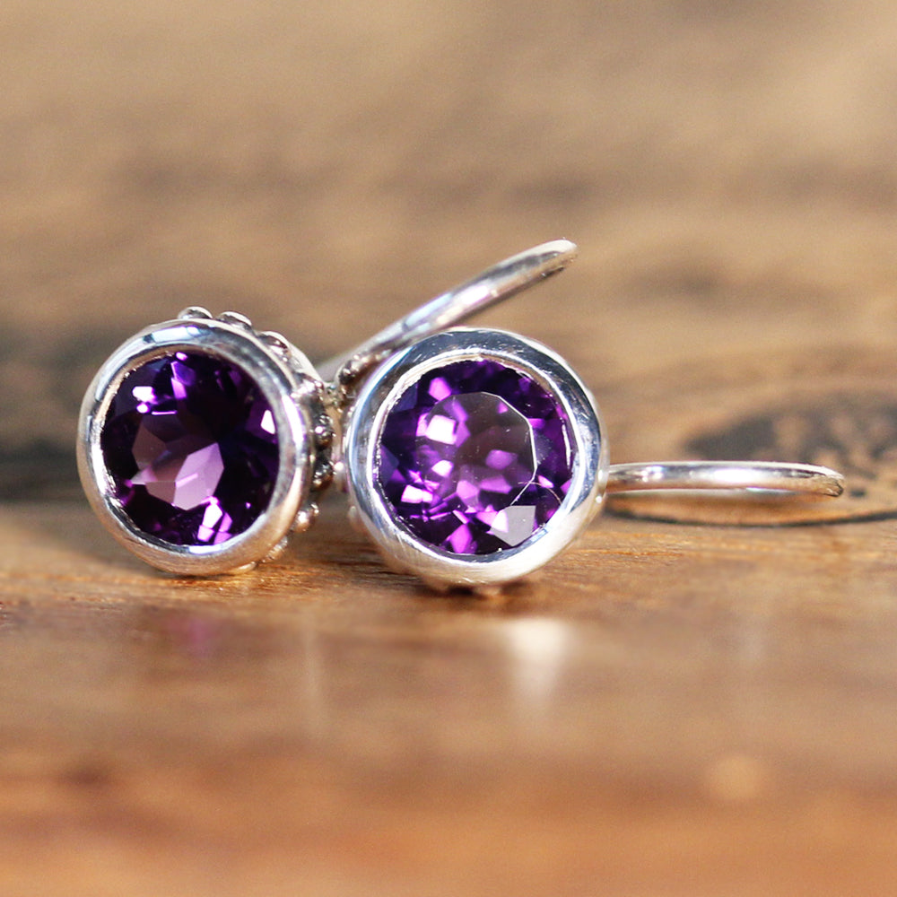 Amethyst Drop Earrings - Wrought Collection