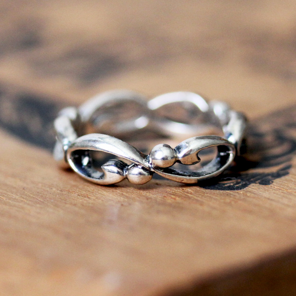 Sterling silver infinity filigree band