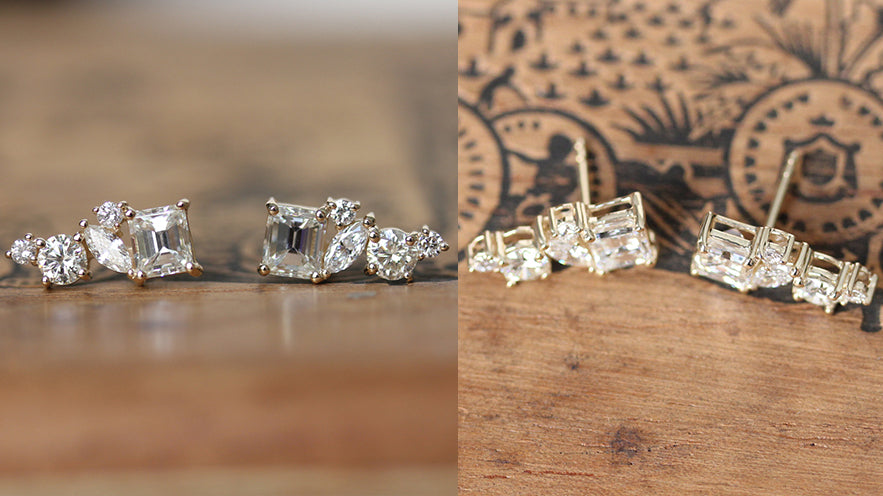 Designing ear climbers from a ring