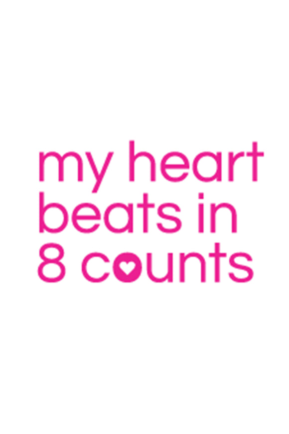 My Heart Beats in 8 Counts DIY Graphic by Inspired Athletics