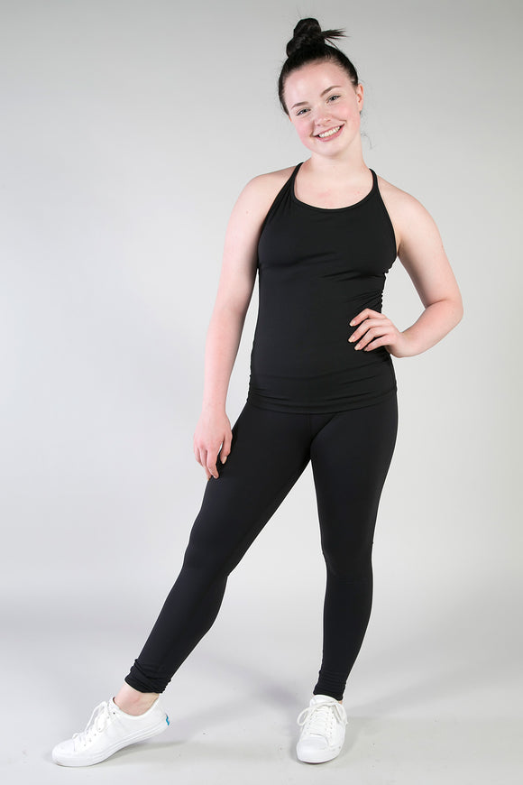 Black Supplex Sprint Leggings