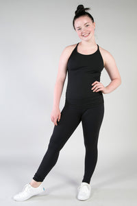 Black Drifit Sprint Legging-Triple Flip