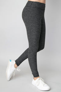 Double Dip Leggings in Charcoal by Inspired Athletics