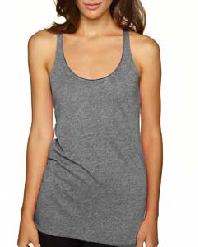 Next Level Ladies Racerback Tank-Grey or Black