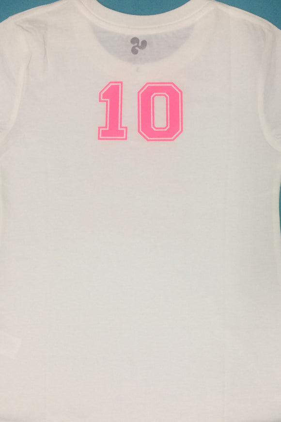 Numbers, Athletic Block- Pink DIY Graphic by Inspired Athletics