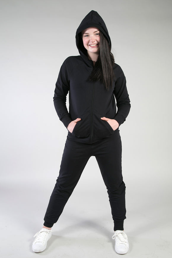 In-Stock Black Cotton Onesie by Inspired Athletics