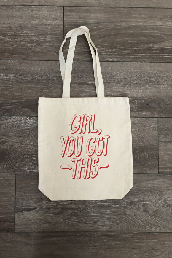 Hand Printed Canvas Totes