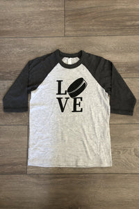 Hockey LOVE & Icing isn't just for Cupcakes Unisex Baseball 3/4 Shirts