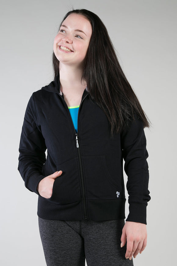 Black Youth & Adult Unisex Zip-Up Hoodie