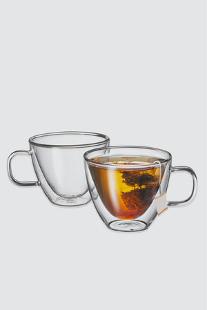 Sienna twin wall glass set 250ml