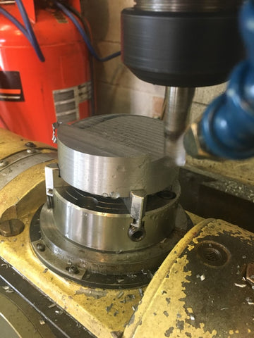 Nearly done milling the fly cutter's angled bottom