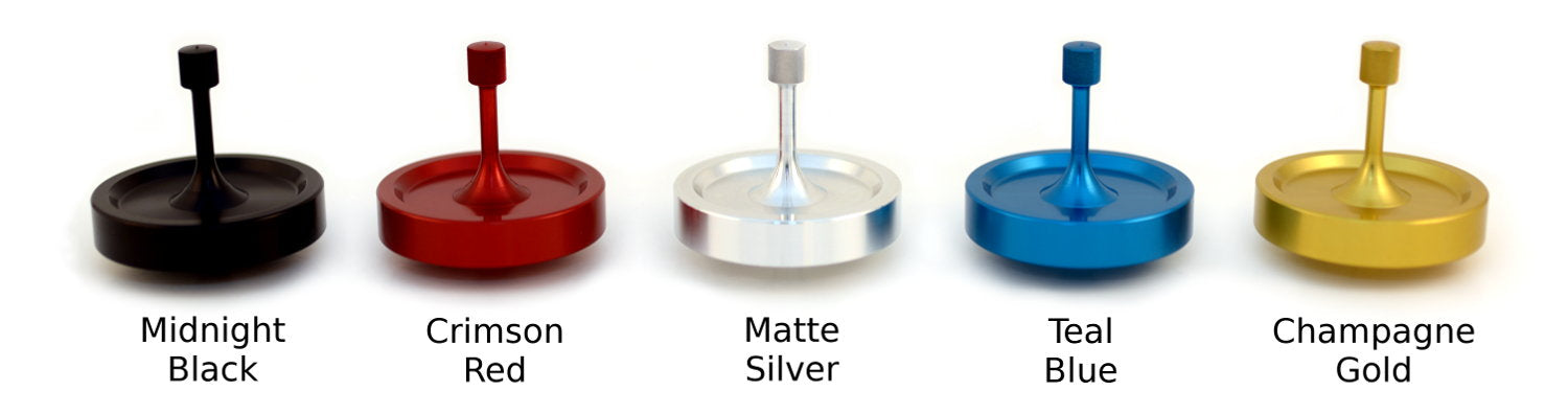 Spinny-Doo Precision Spinning Tops Color Lineup
