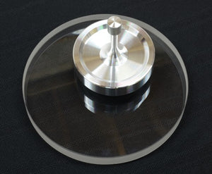Spinny-Doo Spin Base with Matte Silver Spinning Top