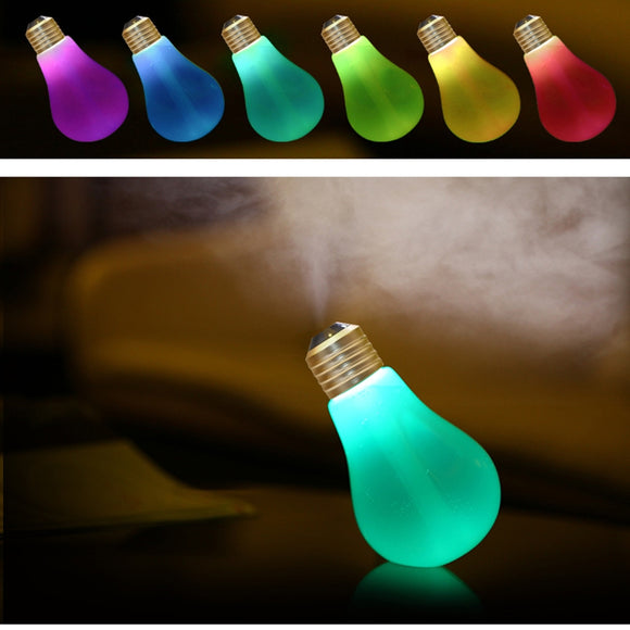 LED Bulb Ultrasonic Humidifier