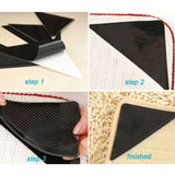 Non-Slip Reusable Rug Grippers ( 4Pcs)