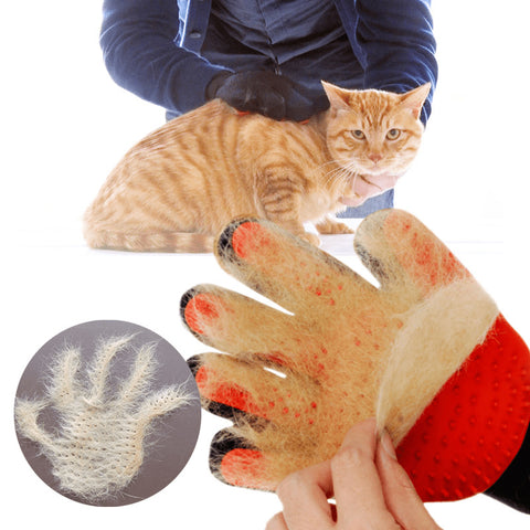 Image of Grooming Glove for Cats Gloves Comb for Animals Hair Remover Pet Bath Brush Dog Massage