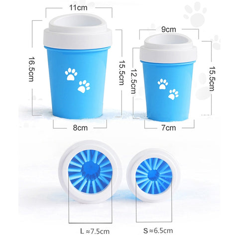 Image of Dirty Dog paw cleaner Soft Silicone Combs Portable Pet Foot Washer Cup